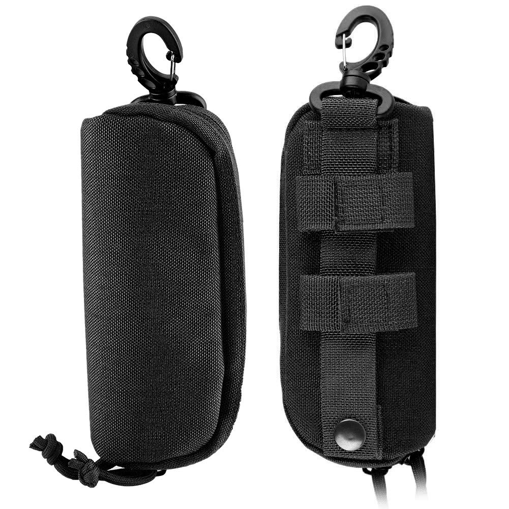 Fsskgx Tactical Molle Sunglasses Case Khaki Portable Shockproof Eyeglasses Protective Box Glasses Pouch Bag