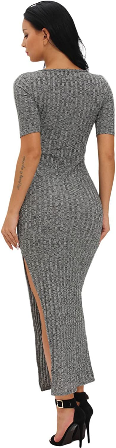 Boldgal Womens One Piece Midi Summer Ribbed Dress