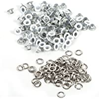 Ojetes de metal Kit, 4 mm Anillas con discos