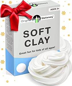 Soft Clay for Slime Making [Like Daiso, Even Stretchier] Supplies for Slime and Modeling Stuff. Add to Glue and Shaving Foam to Make Fluffy Butter Slime [230 Grams 9 Ounces Makes +10 slimes]