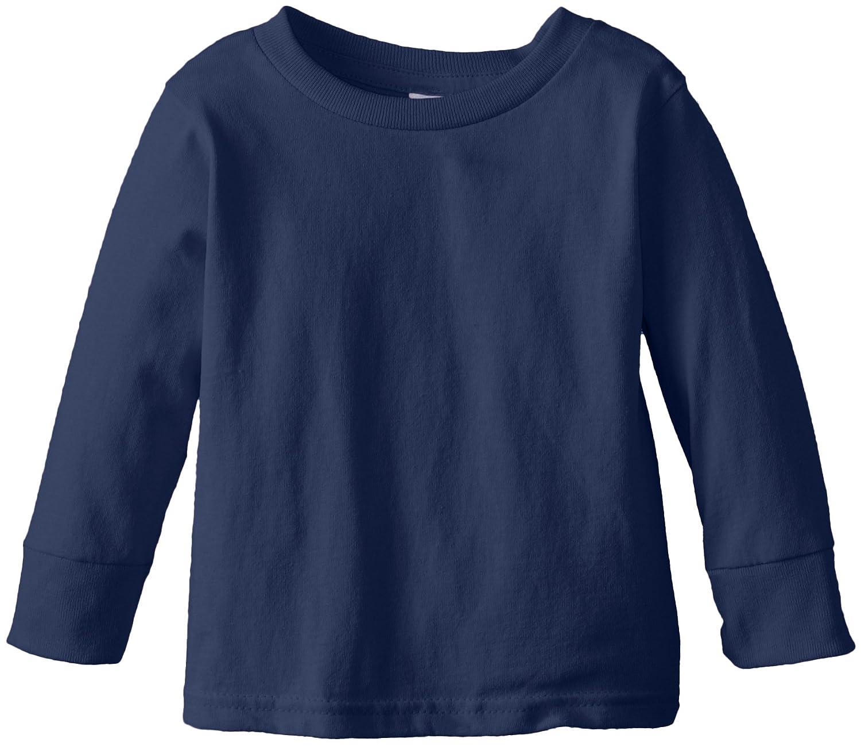 Bleu Marine Taille 3T CleHommestine Peu manche longue Basic - T-Shirt - Fille