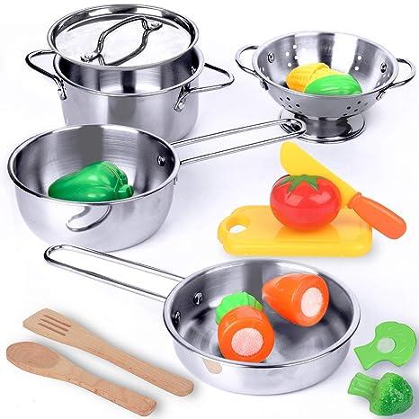 Amazoncom Krato Kitchen Playset Pots And Pans Toys Pretend Play