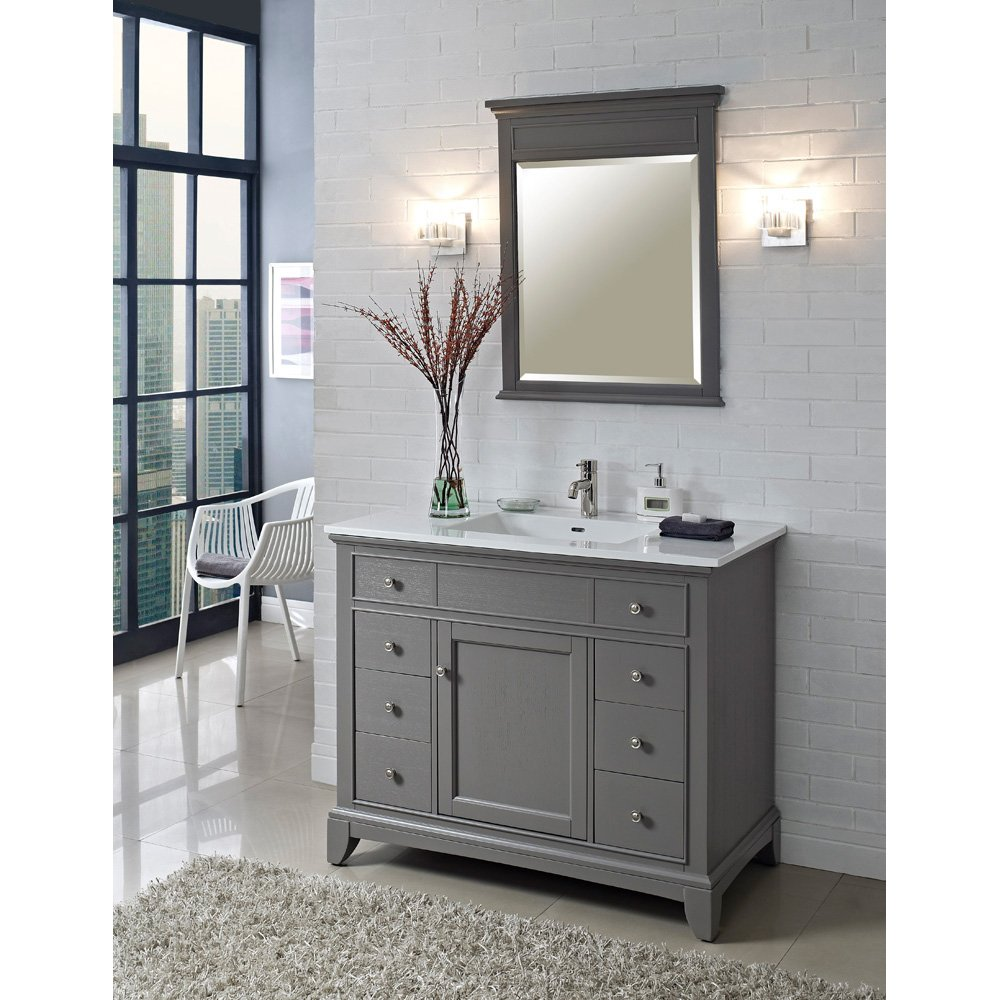 top inch set with vanity carrera bathroom marble white gray
