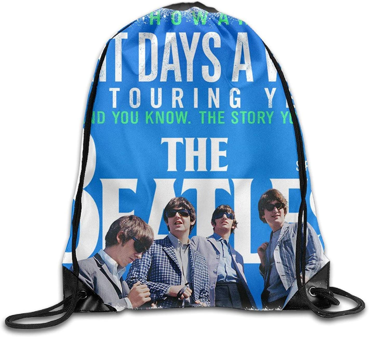DHNKW The Beatles Drawstring Bag,Drawstring Backpack,Sport Bag