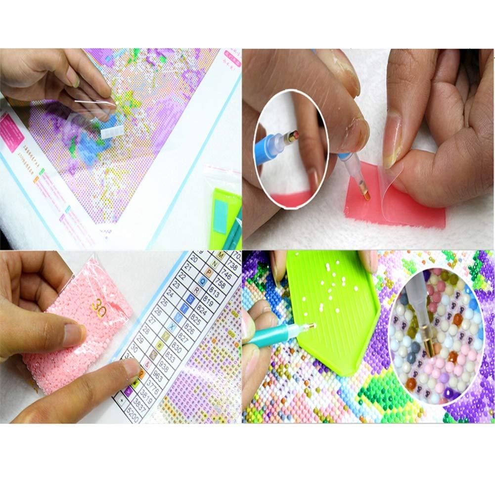 40 * 30cm, leopardo Punto Croce diamante 5D pieno di diamanti set di arte,Hokly Kit per Diamond Painting 5D Arte e Artigianato Decorazione per Casa e Pareti