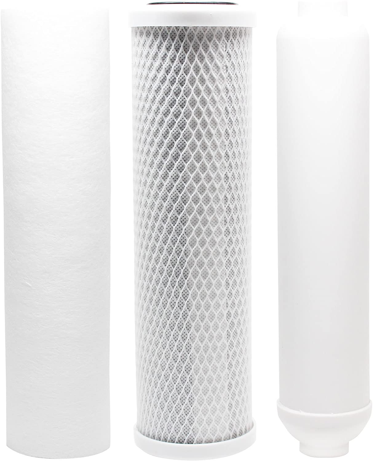 Replacement Filter Kit Compatible with Watts RO-TFM-4SV RO System Denali Pure Brand Includes Carbon Block Filter PP Sediment Filter /& Inline Filter Cartridge