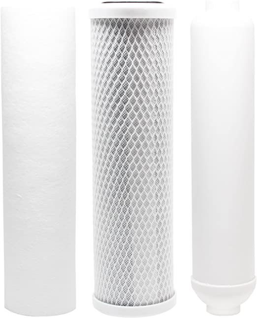 PP Sediment Filter /& Inline Filter Cartridge Denali Pure Brand Includes Carbon Block Filter Replacement Filter Kit Compatible with Watts RO-TFM-4SV RO System