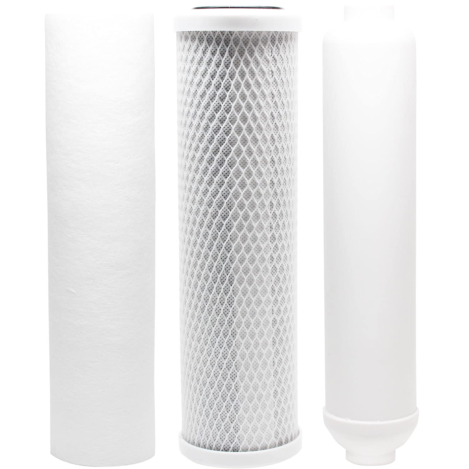 Includes Carbon Block Filter Replacement Filter Kit Compatible with Rainsoft 9591 RO System PP Sediment Filter /& Inline Filter Cartridge Denali Pure Brand