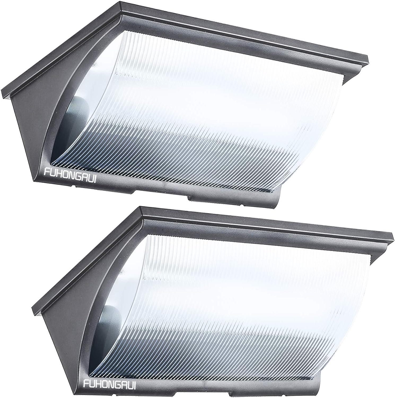 Solar Lights Outdoor Motion Sensor 120LED Solar Flood Light Dusk to Dawn Lighting for Pathway Garden Yard 2 Pack Grey FUHONGRUI