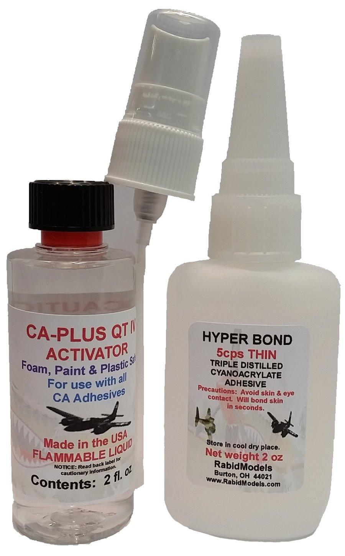 HYPERBOND 2oz Thin CA & 2 oz Spray activator/Kicker