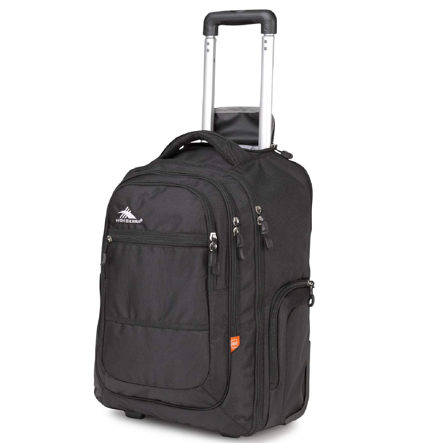 High Sierra Rev Wheeled Laptop Backpack, Black by High Sierra