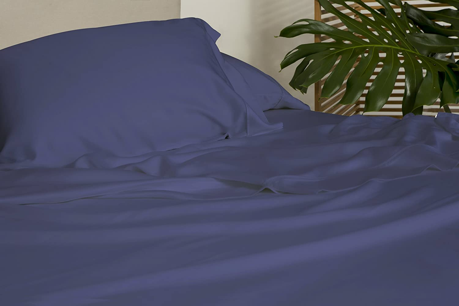 SHEEX Arctic Aire Max Sheet Set with 1 Pillowcase, 100% Tencel with CoolX Technology, Denim, Twin