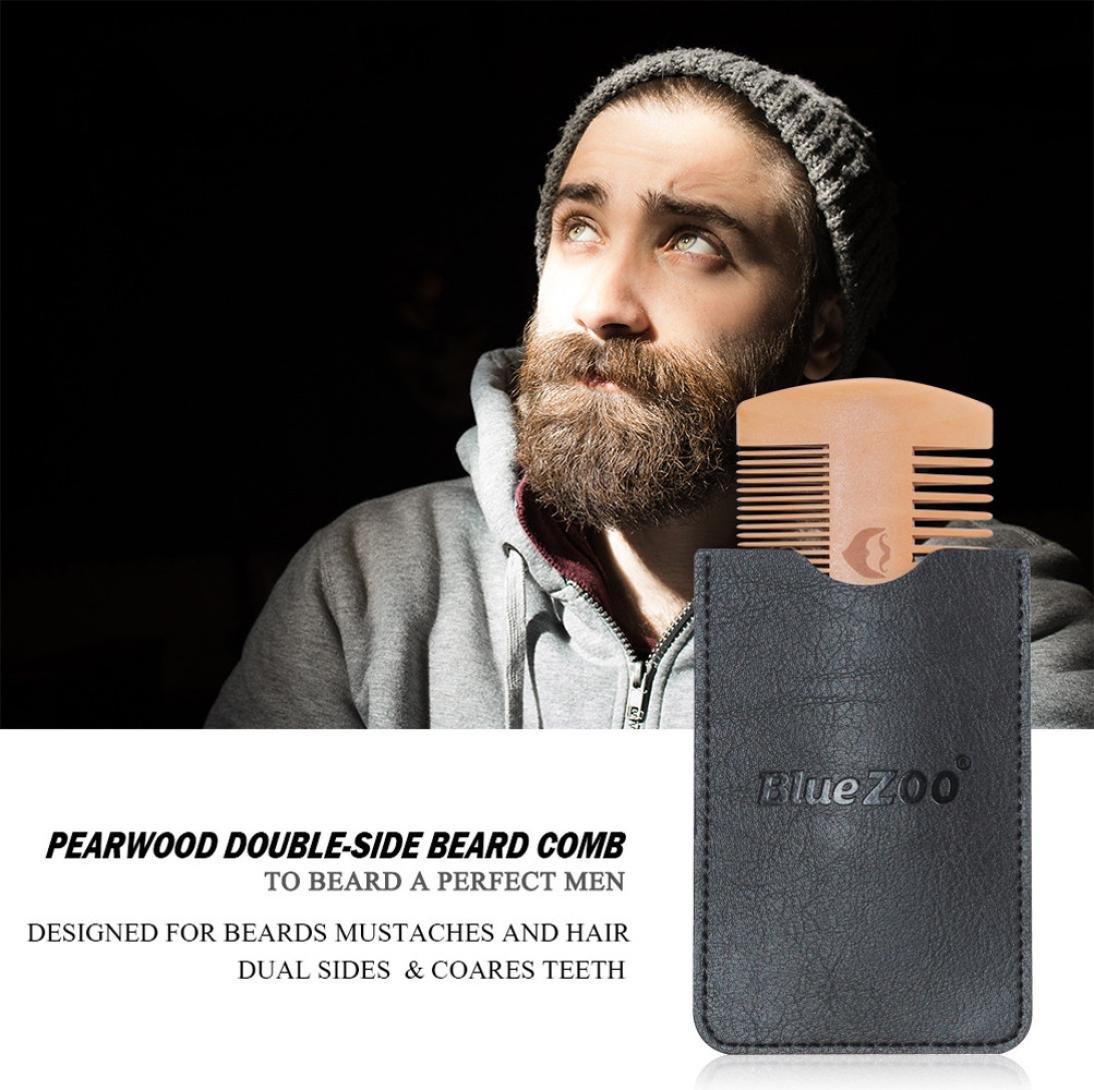 Amazon.com: Liping barba de madera peine antiestático peine ...