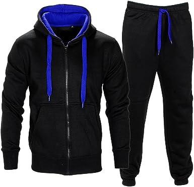 Men/'s Tracksuit Set Sportswear Hoodie Top Bottoms Joggers Athletic Trackies Suit