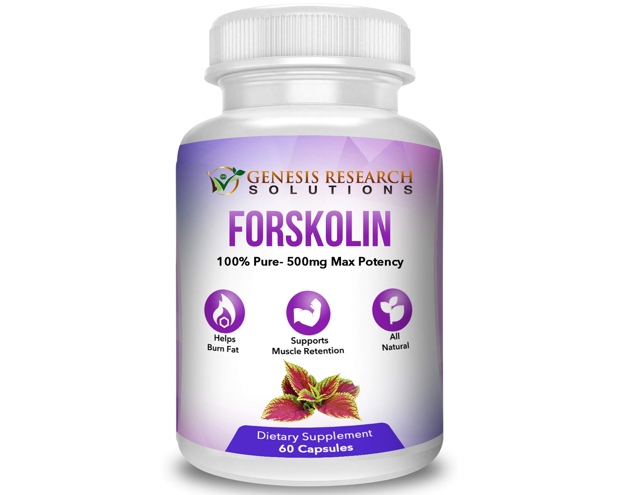 Pure Forskolin Dietary Supplement, Appetite Suppressant for Weight Loss & Muscle Retention. Plus Metabolism & Energy Booster - 100% Natural Supplement Extr