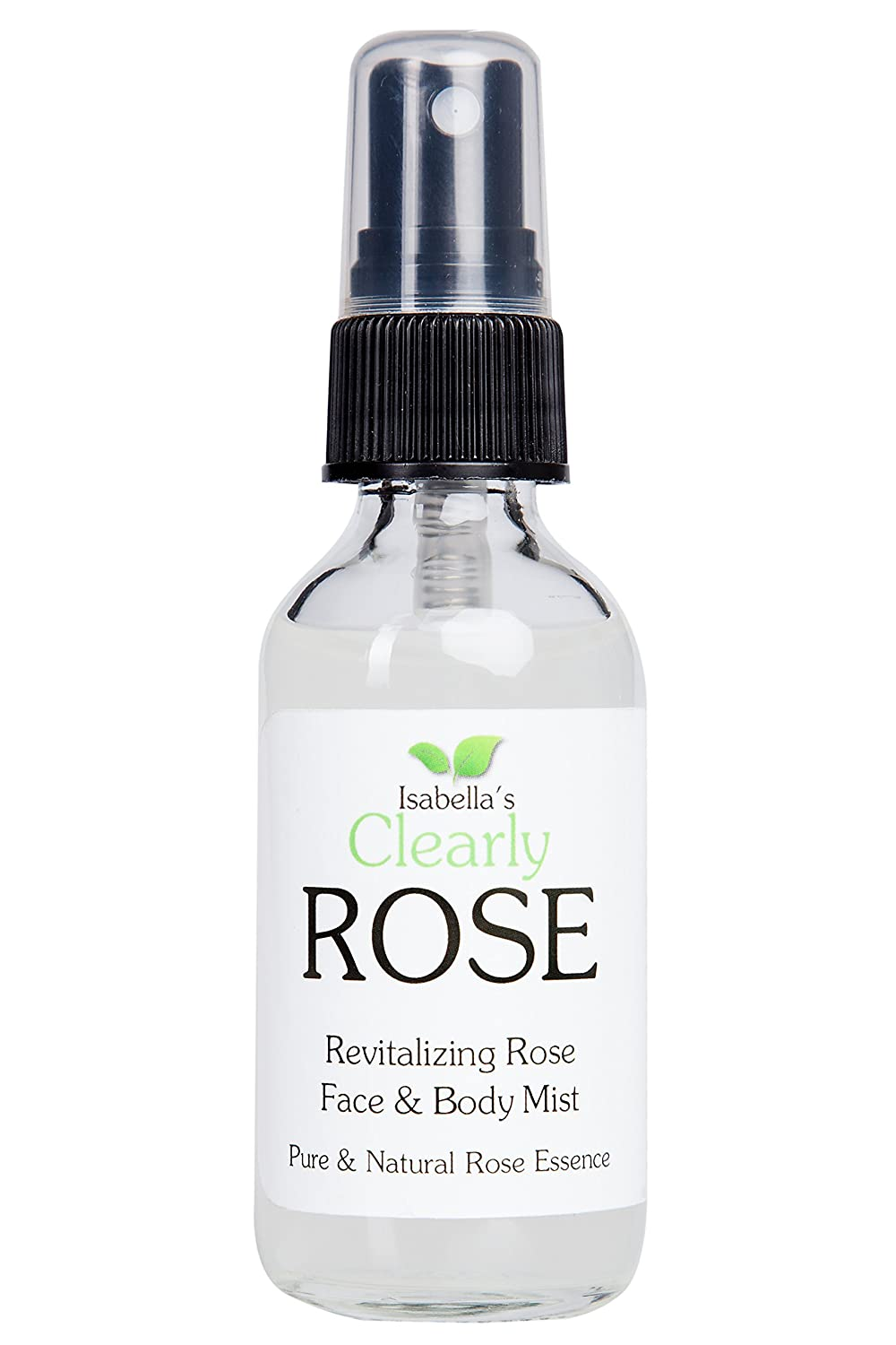 Isabella's Clearly ROSE, 100% Pure Rose Water, All Natural, Preservative Free, Additive Free. Facial Toner Spray, Body Mist, Linen Spray. Lovely Floral Fragrance. Aromatherapy for Face, Hair, Body and Mind. 2 Oz Isabella' s Clearly ROSE 10005