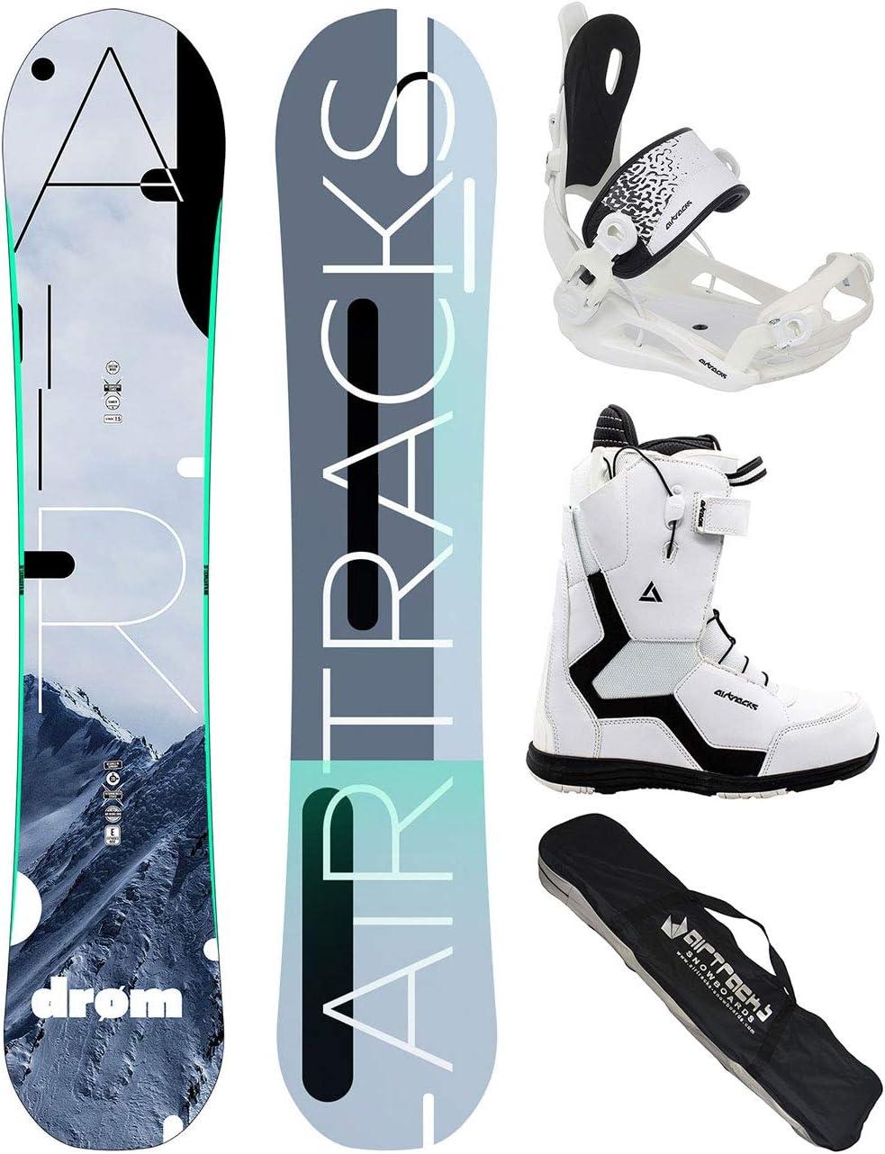 Airtracks Snowboard Set TAVOLA Data Wide Uomo+ATTACCHI Master FASTEC+Scarponi+Sacca//Nuovi