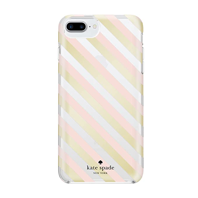 classic fit caba3 dd44a kate spade new york Case Only, Gold Foil Diagonal