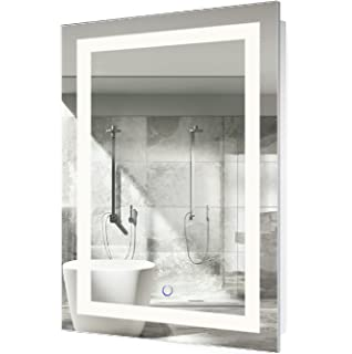 Gentil Krugg LED Bathroom Mirror 24 Inch X 36 Inch | Lighted Vanity Mirror  Includes Defogger U0026