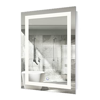 Amazon krugg led bathroom mirror 24 inch x 36 inch lighted krugg led bathroom mirror 24 inch x 36 inch lighted vanity mirror includes defogger aloadofball Gallery
