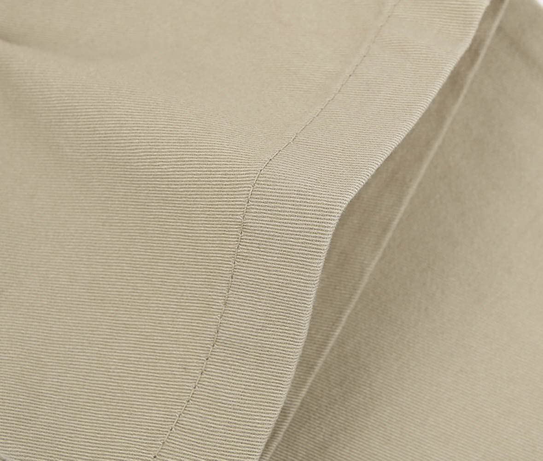 Bienzoe Big Boys School Uniforms Flat Front Adjust Waist Pants Slim Fit