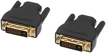 AmazonBasics HDMI2DVI_A_2 HDMI-auf-DVI-D-Adapter, 2er-Pack, Schwarz