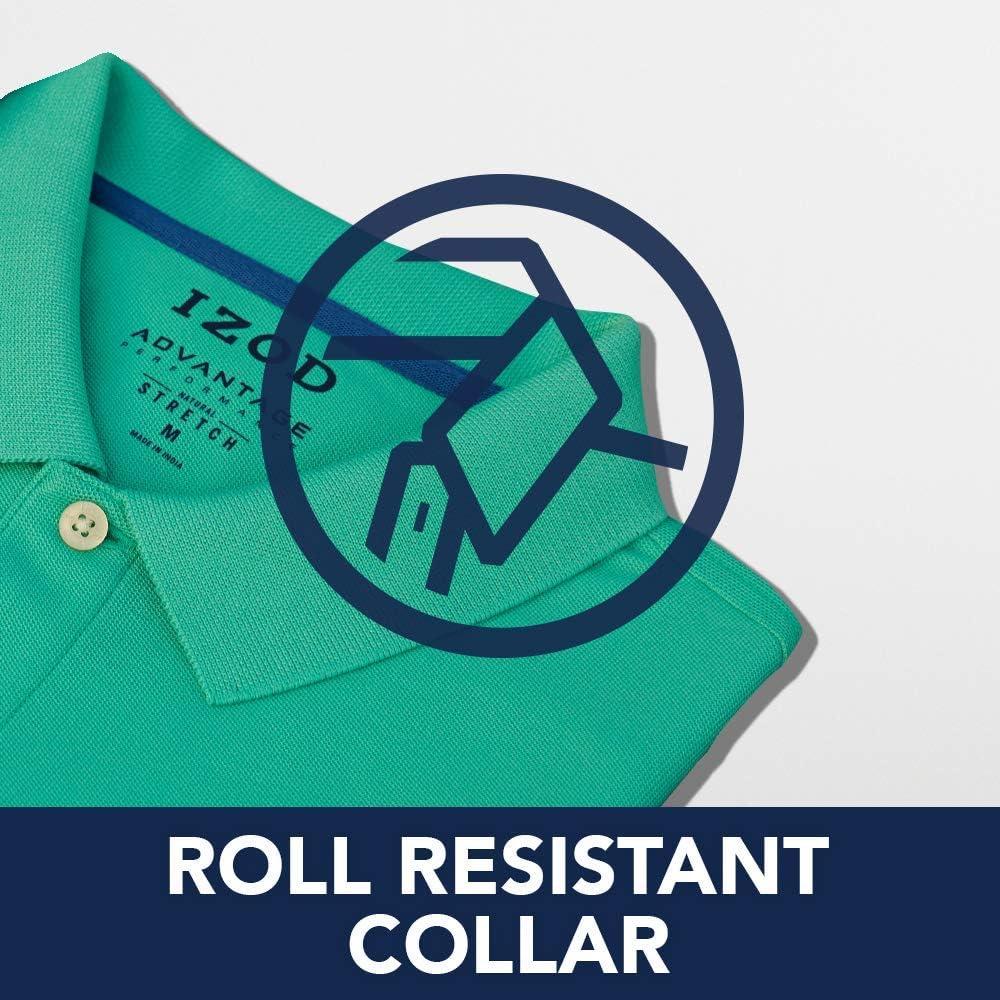 Izod Mens Short Sleeve Advantage Solid Pique Polo