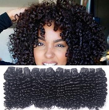 Amazon Com Brazilian Human Hair Extensions 4 Bundles Kinky Curly