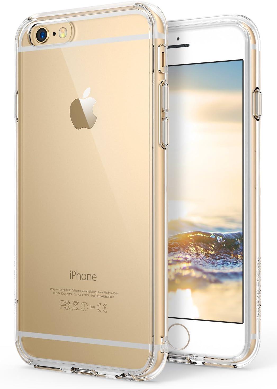 Coque iPhone 6S Plus Ringke [Fusion] Coque arrière en polycarbonate transparent TPU avec protection d'écran [protection contre les chutes/technologie ...