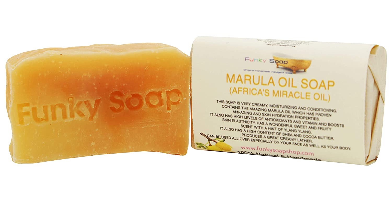 1 pezzo MARULA (Africa's MIRACLE OLIO) SAPONE 100% Naturale Artigianale 65G Funky Soap