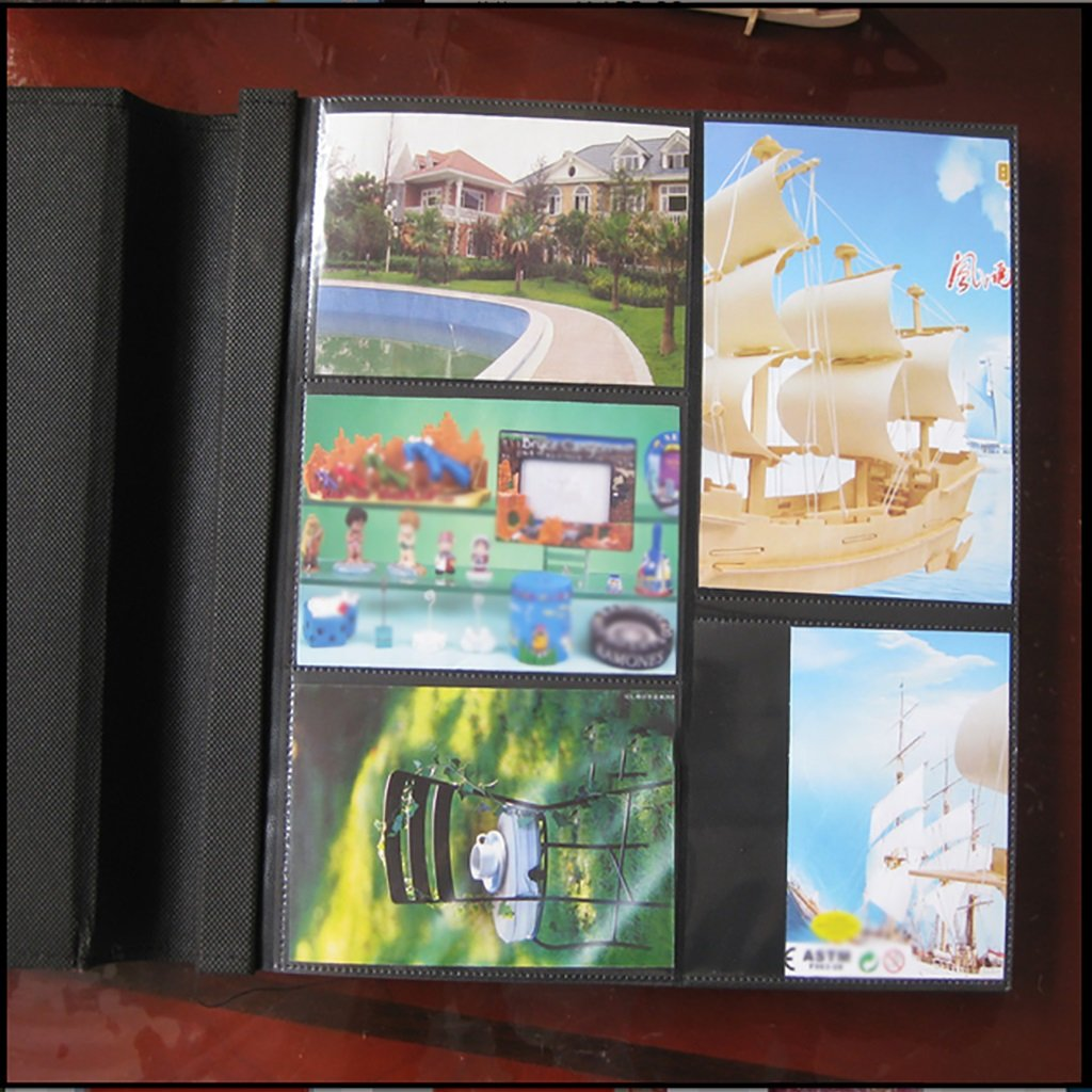 SESO UK- Álbum de fotos creativas, álbum recuerdos de recuerdos álbum de aniversario de boda de la PU, para 500 fotos mixtas (34 × 33 × 6cm) ( Color : Azul ) d1ec15