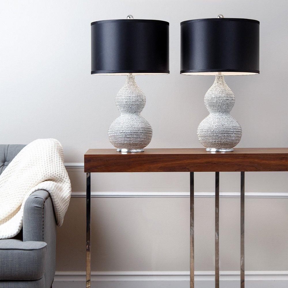 Amazon.com: ABBYSON LIVING Silver Plated Sea Urchin Home Table Lamp ...