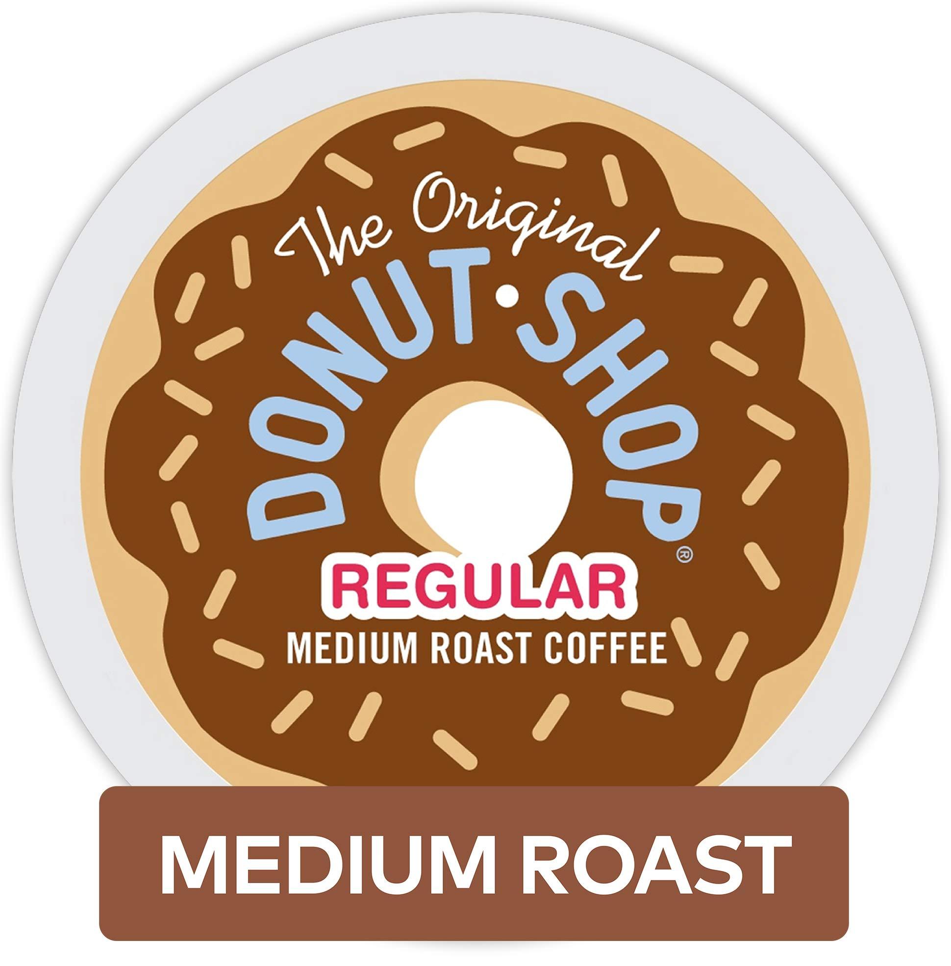 The Original Donut Shop Coffee, Regular Medium Roast, K-Cup Portion Count for Keurig Brewers, 24 Count, Pack of 4 by The Original Donut Shop