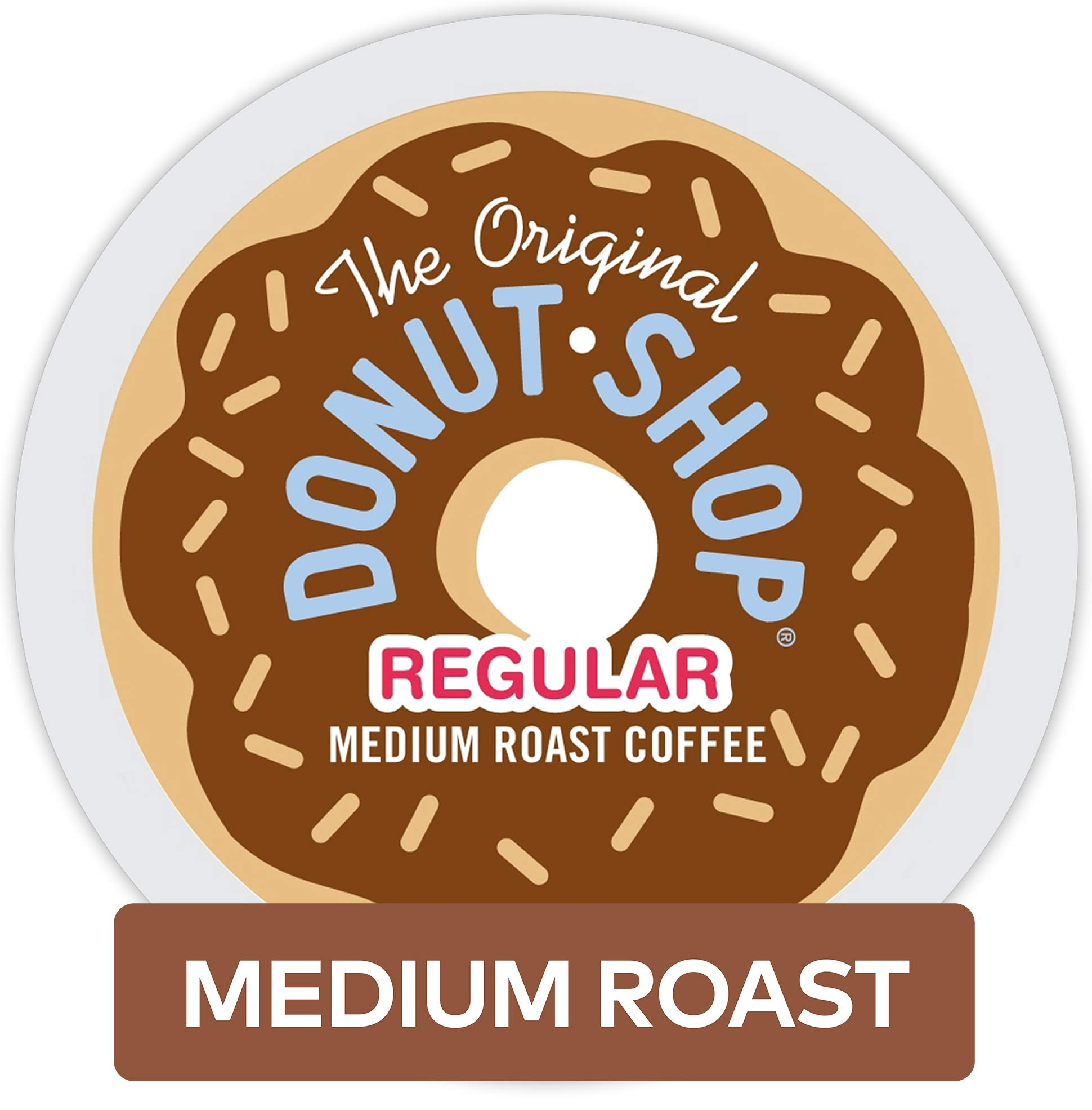 The Original Donut Shop Coffee, Regular Medium Roast, K-Cup Portion Count for Keurig Brewers 24-Count (Pack of 4) (96 Count)