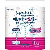 エリエール シャワートイレのためにつくった トイレットペーパー 吸水力が2倍 フラワープリント香水付き 23m(100シート)×18ロール ダブル フローラルブーケの香り パルプ100%