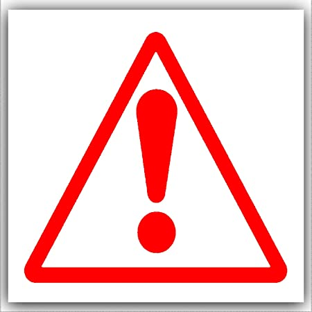 6 x caution warning danger symbol red on white external self rh amazon co uk caution logo wallpaper caution logging ahead