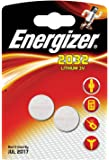 ENERGIZER Energizer CR2032 Battery Lithium for Small Electronics 5004LC 240mAh 3V Ref 628747 [Pack 2]