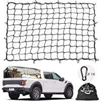 $28 » Cargo Net MICTUNING 5x7 Feet Heavy Duty Truck Bed Bungee Nets Stretches to 10x14 Feet with…
