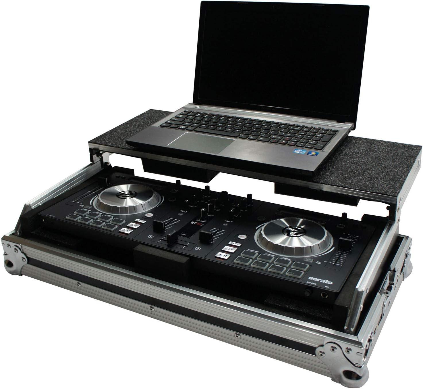 Harmony HCMIXTRACKPRO3LT Flight Laptop Stand DJ Case Compatible with Numark Mixtrack Pro 3