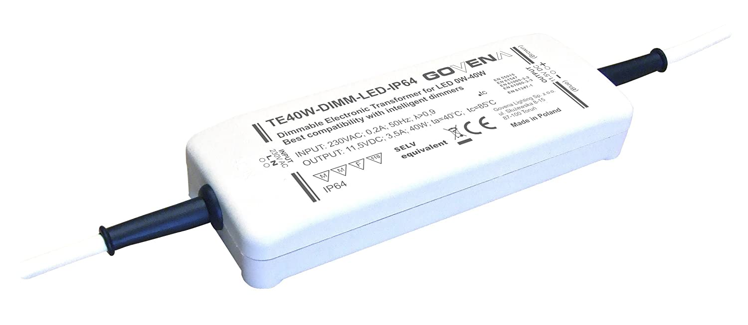 0w 40w 12vdc Dimmable Constant Voltage Led Driver Electronic Ac Capacitor Circuit Transformer Te40w Dimm Ip64 Start At Lighting