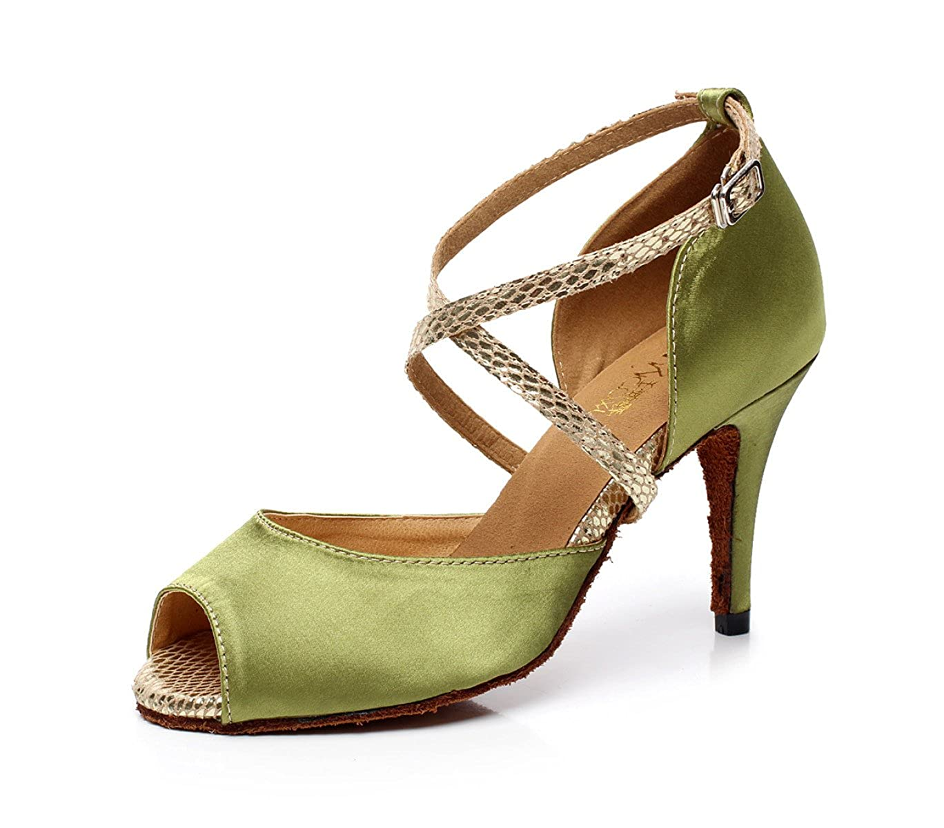 JSHOE Cristaux De Femmes étincelant Satin 19744 Femmes Latin Salsa Chaussures Sandales De Danse Tango/Thé/Samba/Moderne/Jazz Chaussures Sandales Talons Hauts,Green-heeled6cm-UK7/EU41/Our42 - c5adddc - fast-weightloss-diet.space