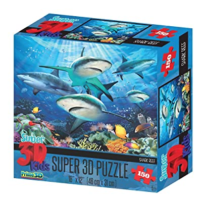 Howard RobinsonSuper 3D Reef Sharks Puzzle (150-Piece): Toys & Games
