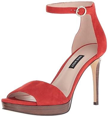 dc6112f276c Amazon.com  Nine West Women s Querrey Suede Heeled Sandal  Shoes