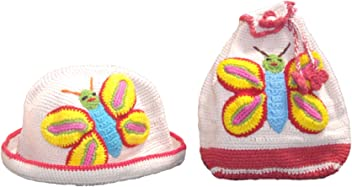3b351934c35 snuggleheads Girls  Butterfly Bucket Hat and Backpack Set 2-5 Year