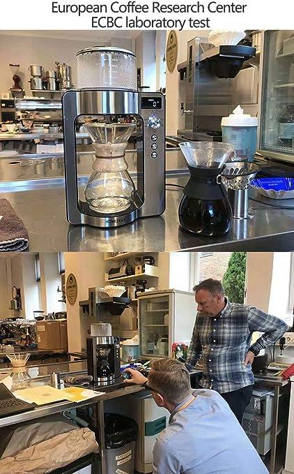 MRSGG Máquina de café de Mano Inteligente, cafetera de Goteo para café y té, máquina de café Americana Comercial, Leche espumosa automática, Capuchino y Latte, Plateado: Amazon.es: Hogar