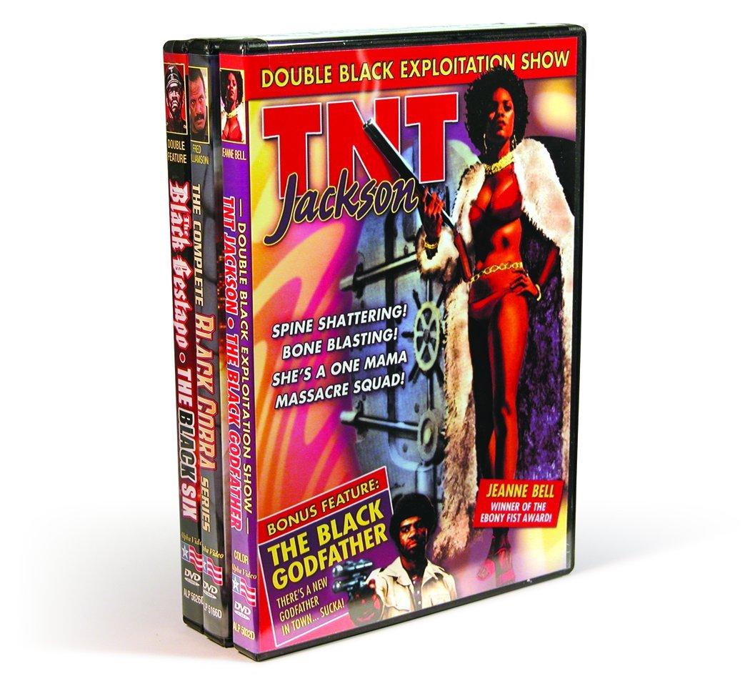 70s Grindhouse Black Exploitation: TNT Jackson (1979) / The Black Godfather (1974) / Black Cobra (1981) / Black Cobra 2 (1990) / Black Cobra 3: The Manila Connection (1990) / The Black Gestapo (1975) / The Black Six (1974) (3-DVD)