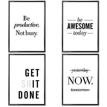 Verschiedene Poster Set S Motivation 4 X Din A3 Ohne
