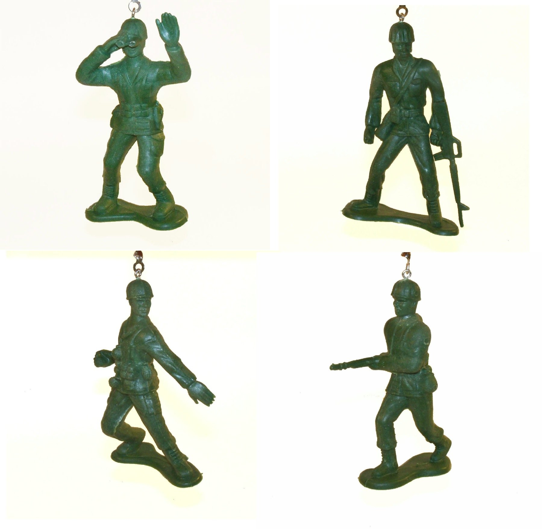 Green Army Men Ceiling Fan Pull Chain (Set of All 4)