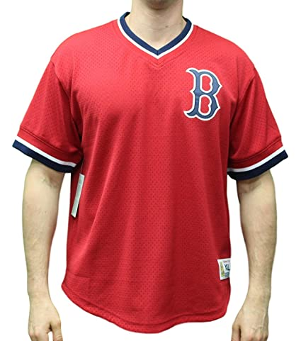 pretty nice d5d78 f9231 Amazon.com : Mitchell & Ness Boston Red Sox MLB Men's Game ...