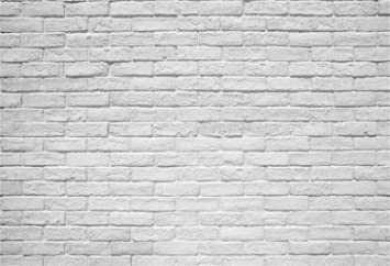Laeacco Rustic Brick Wall Background 10x6 5ft White Washed Wall Vinyl Photography Backdrop Children Adults Portraits Shoot Product Pet Clothing Photo Studio Party Decoration Wallpaper Camera Photo